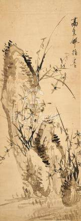 Gao Qipei (1660 - 1734) Finger-painted Orchid