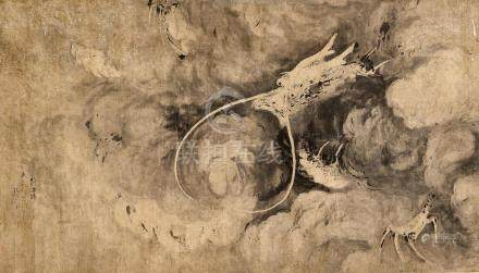 Attributed to Gao Qipei (1660 - 1734) Dragon in the style of Chen Rong