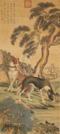 After Lang Shining (1688 - 1766) Prized Dogs of the Forbidden City