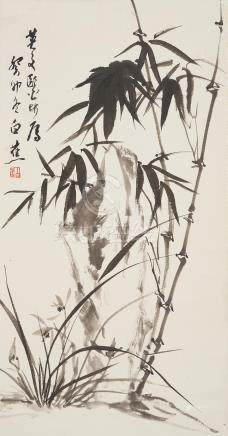 Bai Jiao (1907 - 1969) Orchid and Bamboo