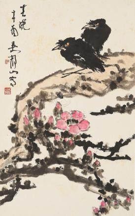 Wu Jingshan (1943 - ) Myna and Magnolia