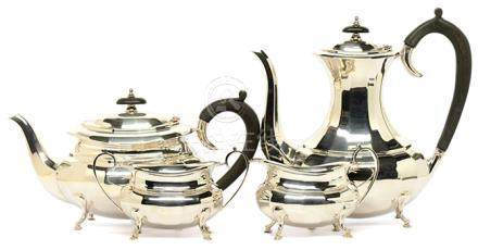 英國 鍍銀茶具一套四件
