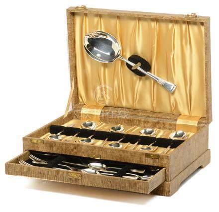 英國 ANGORA 鍍銀餐具一套 (附原裝盒)