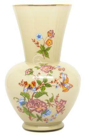 意大利 玻璃手繪花鳥瓶