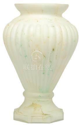 意大利 MURANO 磨砂玻璃花棱形瓶