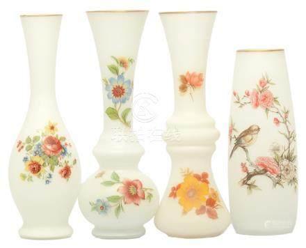 意大利 玻璃花鳥瓶四件
