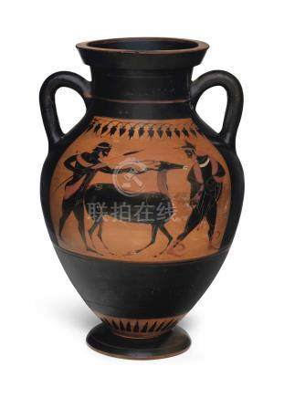 AN ATTIC BLACK-FIGURED AMPHORA (TYPE B)
