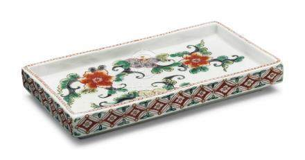A JAPANESE RECTANGULAR DISH
