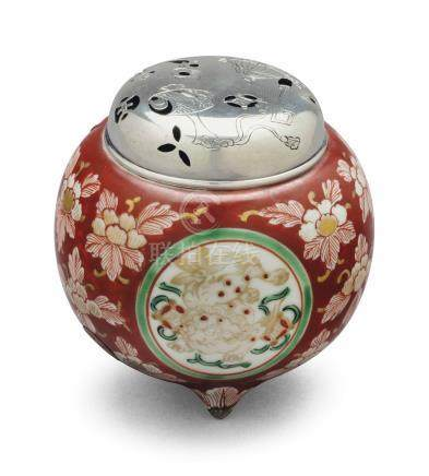 A JAPANESE ROUND INCENSE BURNER