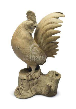A JAPANESE INCENSE BURNER IN THE FORM OF A ROOSTER