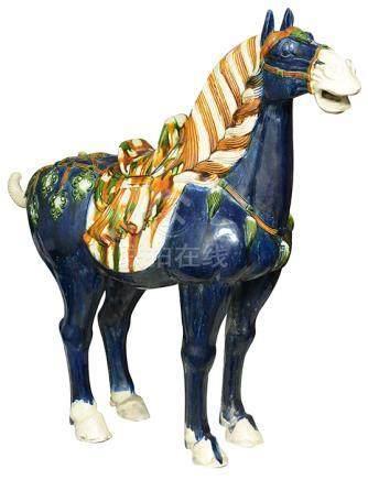 三彩釉駿馬