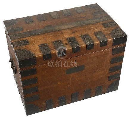 An Elkington & Co Silversmiths oak silver chest,
