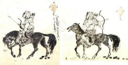 SUITE DE DEUX PEINTURES CHINOISES