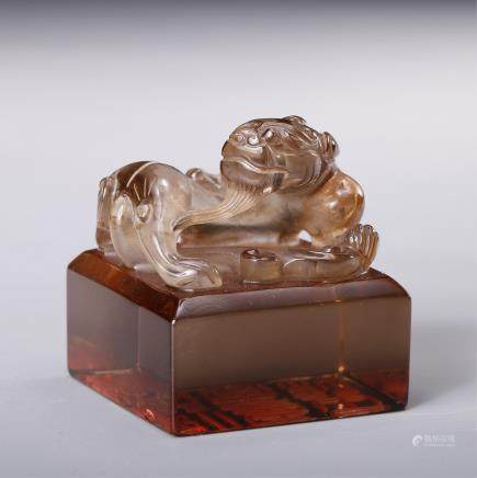 CHINESE CRYSTAL FOOLION SEAL