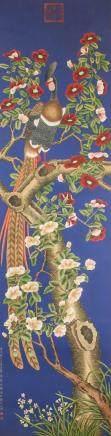 JIANG TINGXI Chinese 1669-1732 Watercolor Scroll