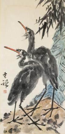 LI KUCHAN Chinese 1899-1983 Watercolor Scroll