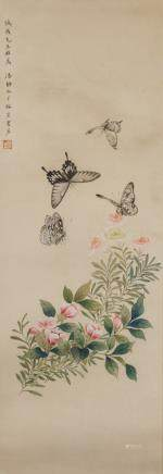 PAN JINGSHU Chinese 1895-1939 Watercolor Scroll