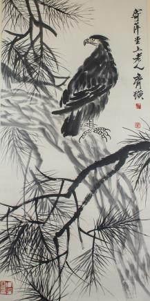 QI BAISHI Chinese 1864-1957 Watercolour Scroll