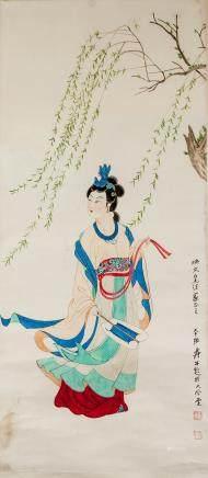 ZHANG DAQIAN Chinese 1899-1983 Watercolour Beauty