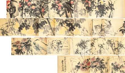 WU CHANGSHUO Chinese 1844-1927 Watercolor Scroll