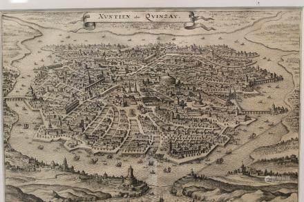 Xuntien Alias Quinzay [Ca 1650] Engr view, Merian.