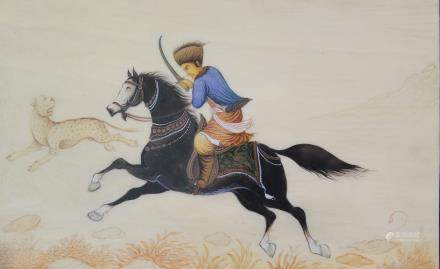 Hunting, Indian painting.