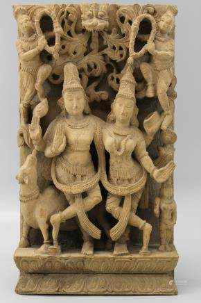 Indian wood carving.