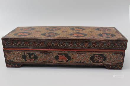 Vintage Burmese lacquer box.