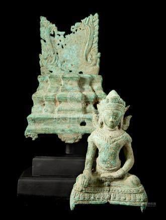 17th-18th Century Bayon Style Enthroned Buddha