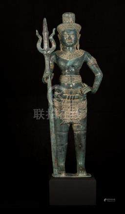 19th Century Standing Indian Shiva