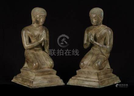 19th Century Thai Dvaravati Devotee or Disciple of