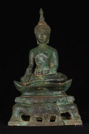 19th Century Laos Enlightenment Boat Buddha