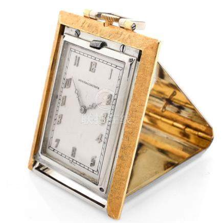 Vintage Art Deco Circa 1911-1935 Vacheron Constantin and Verger Freres, Paris 18 Karat Yellow and W
