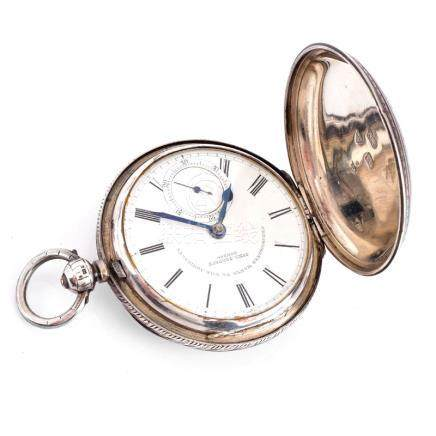 Circa 1901 John Forrest London, Chronometer to the Admiralty, Chased Sterling Silver Pocket Watch w