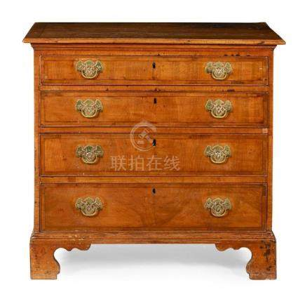 GEORGE I YEW AND WALNUT CHEST OF DRAWERS EARLY 18TH CENTURY