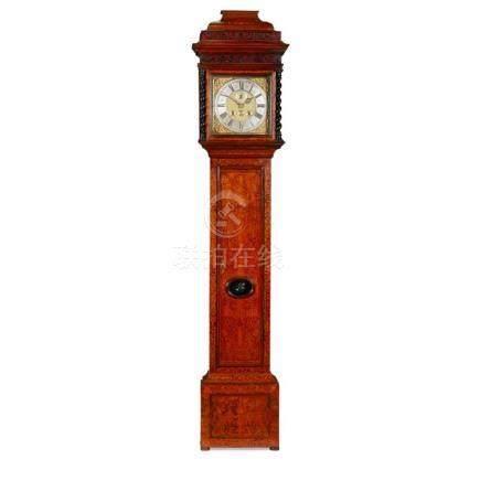 WALNUT MARQUETRY MONTH-GOING LONGCASE CLOCK, JOSEPH WINDMILL