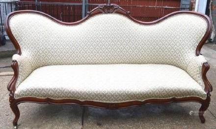 19th C American Belter-Style Rosewood Sofa