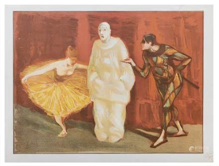 Estampe Moderne - Le pantomime