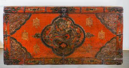 Tibetan trunk - 19th century - Lasha
