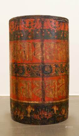 Buddhist prayer wheel - Tibet - 19th century