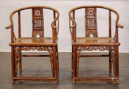 Armchair (pair) - China, Shanxì Province - 18th century