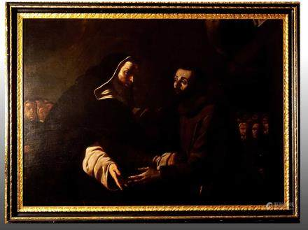 THE MEETING BETWEEN ST. DOMINIC AND ST. FRANCIS