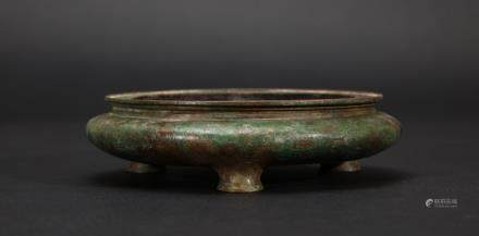 CHINESE BRONZE INCENSE BURNER WITH XUANDE MARK