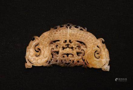 CHINESE ARCHAIC JADE PLAQUE