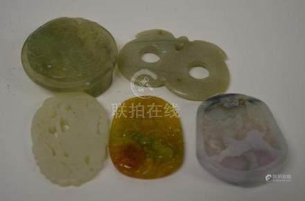 Five Chinese Pendants