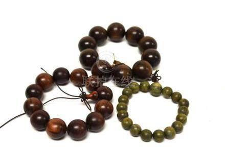 Three Beaded Bracelets