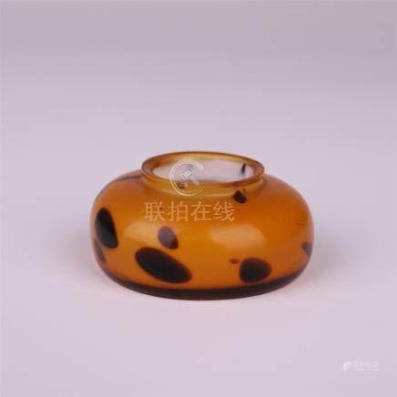 CHINESE PEKING GLASS WATER POT