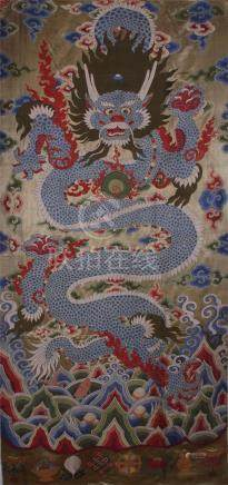 CHINESE EMBROIDERRY DRAGON TEXTILE