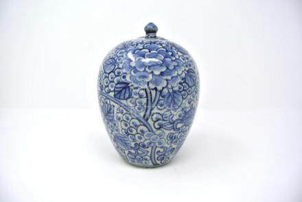 Chinese White and Blue Porcelain Vase