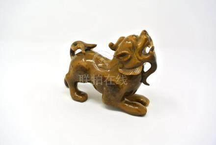 Chinese Tiger Eye Stone Statue